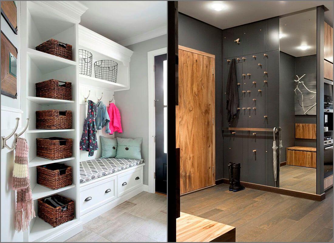 современный дизайн прихожей оформление в разных стилях