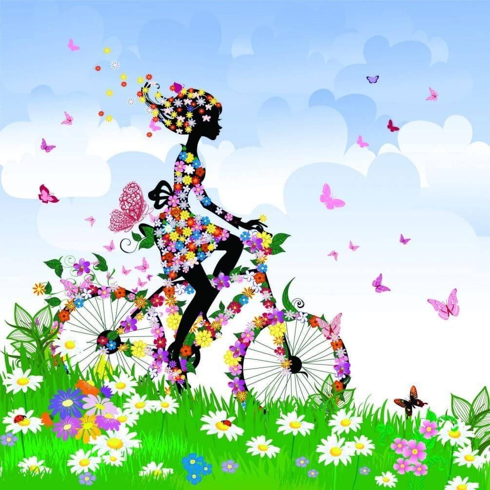 """Фотошпалери """"Весняні квіти"""" №4947 на замовлення під свій"""