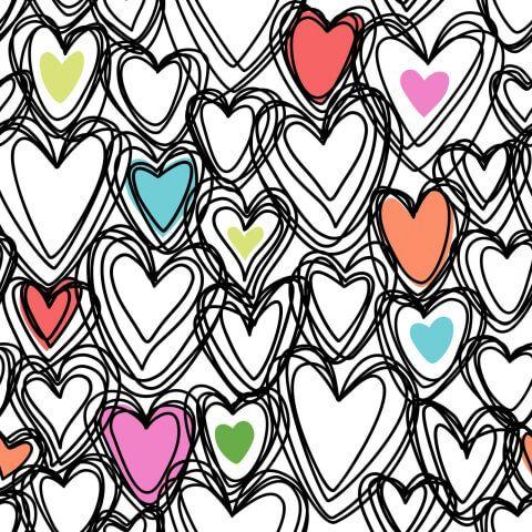 Цветные сердца