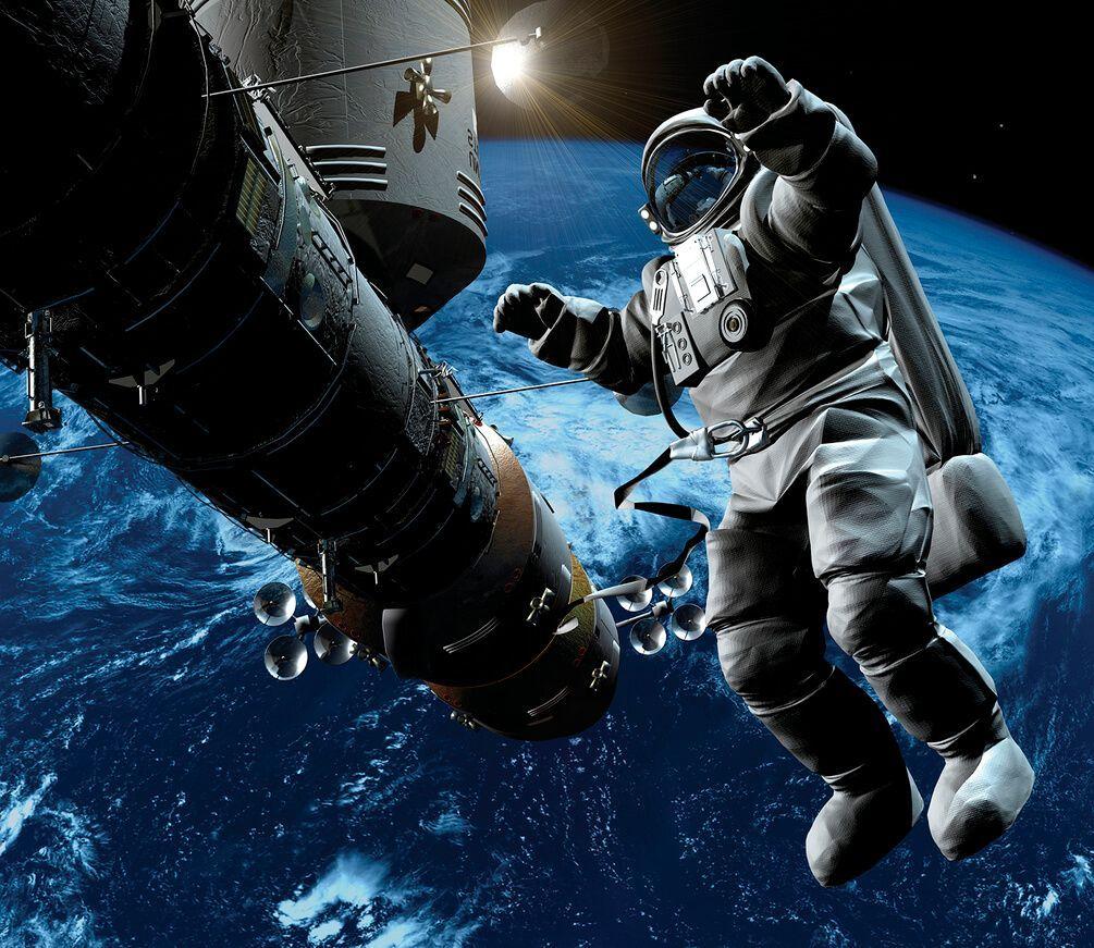 Картинки на тему космонавты в космосе
