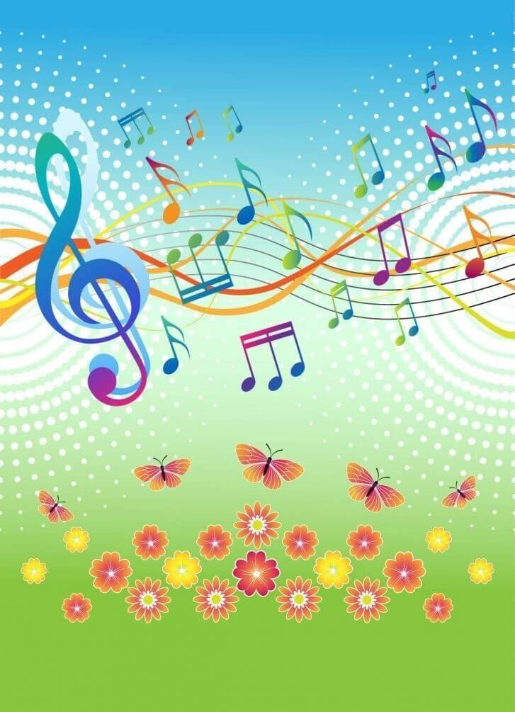 Картинка день музыки в детском саду, открытки дяде музыкальные