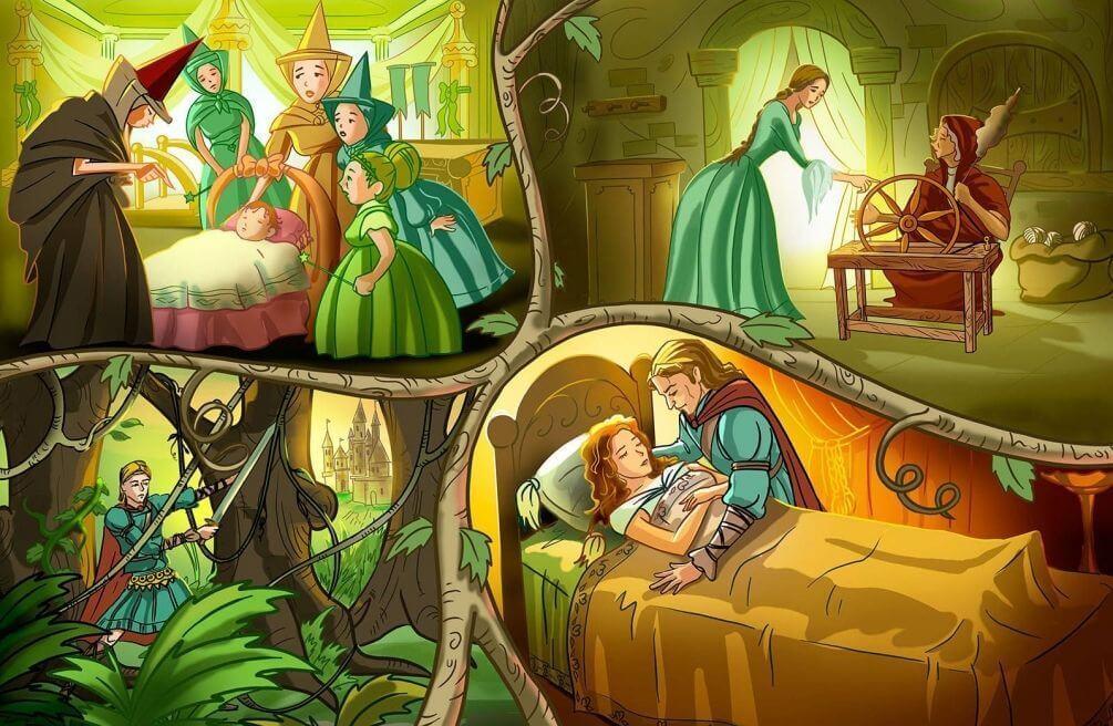 отключает картинки к сказке спляча красуня куда больше