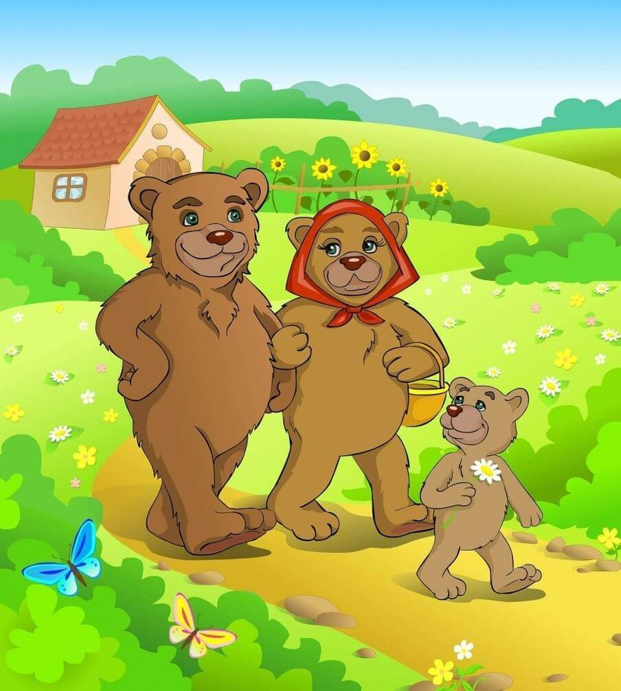Картинки для детей семья медведей, картинки