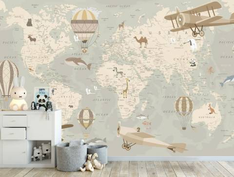 f6ff54a8c7105d Фотошпалери Карта світу на замовлення | Арт-Обоі