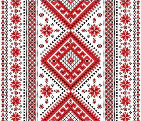 Узоры в украинских вышивках 355