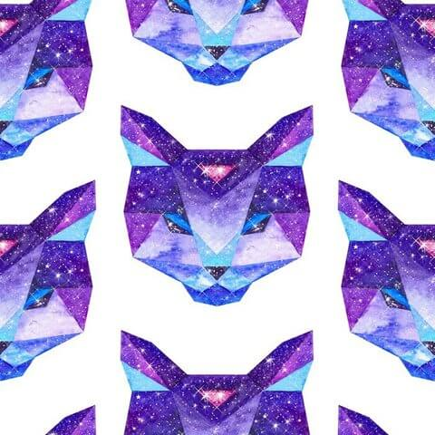 Космический полигональный кот