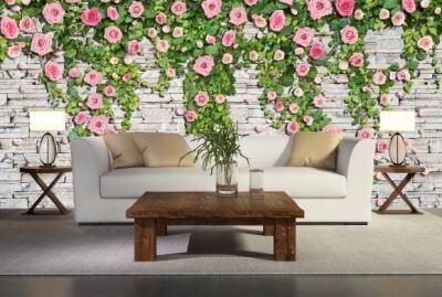 фотообои в интерьере фото цветы